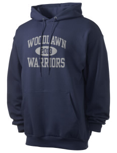Woodlawn Middle School Warriors Men's 7.8 oz Lightweight Hooded Sweatshirt
