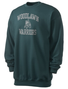 Woodlawn Middle School Warriors Men's 7.8 oz Lightweight Crewneck Sweatshirt