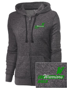 Woodlawn Middle School Warriors Embroidered Women's Marled Full-Zip Hooded Sweatshirt