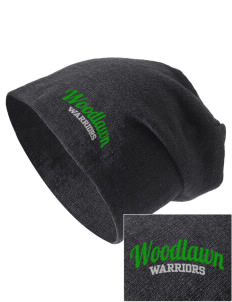 Woodlawn Middle School Warriors Embroidered Slouch Beanie