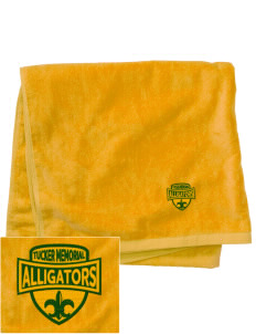 Tucker Memorial Elementary School Alligators Embroidered Beach Towel