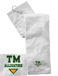 Tucker Memorial Elementary School Alligators Embroidered Hand Towel with Grommet