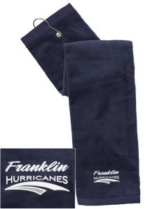 Franklin Middle School Hurricanes Embroidered Hand Towel with Grommet