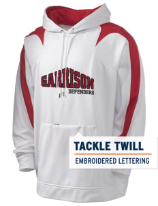 Garrison Elementary School Defenders Holloway Men's Sports Fleece Hooded Sweatshirt with Tackle Twill
