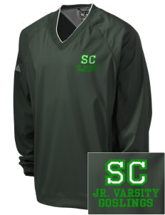 Sunapee Central Elementary School Goslings Embroidered adidas Men's ClimaProof V-Neck Wind Shirt