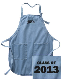 South Egg Harbor Elementary School Raccoons Embroidered Full-Length Apron with Pockets