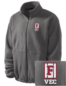 Ventnor Educational Community Complex Falcons Embroidered Men's Fleece Jacket