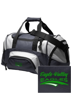Eagle Valley Elementary School Eagles Embroidered Small Colorblock Duffel