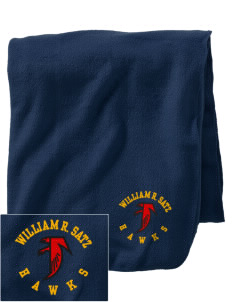 William R. Satz School Hawks Embroidered Holloway Stadium Fleece Blanket