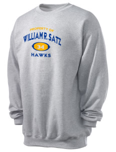 William R. Satz School Hawks Men's 7.8 oz Lightweight Crewneck Sweatshirt