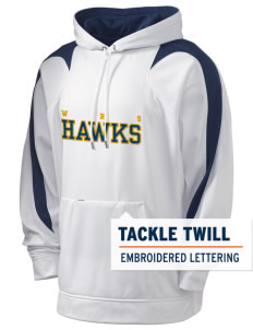 William R. Satz School Hawks Holloway Men's Sports Fleece Hooded Sweatshirt with Tackle Twill