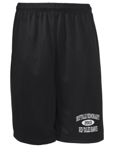 "Buffalo Seminary Red-Tailed Hawks Long Mesh Shorts, 9"" Inseam"