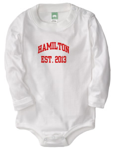 Hamilton Primary School Tigers  Baby Long Sleeve 1-Piece with Shoulder Snaps