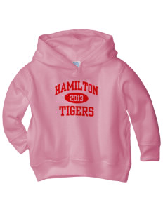 Hamilton Primary School Tigers  Toddler Fleece Hooded Sweatshirt with Pockets