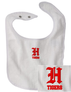 Hamilton Primary School Tigers Embroidered Baby Snap Terry Bib