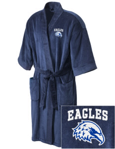 Hondo Valley Public School Eagles Embroidered Terry Velour Robe