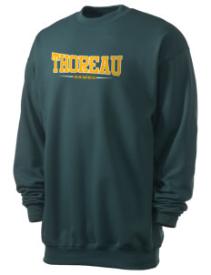 Thoreau High School Hawks Men's 7.8 oz Lightweight Crewneck Sweatshirt