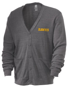 Thoreau High School Hawks Men's 5.6 oz Triblend Cardigan