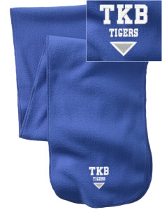 Thomas K Beecher Elementary School Tigers  Embroidered Extra Long Fleece Scarf