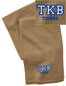 Thomas K Beecher Elementary School Tigers  Embroidered Knitted Scarf