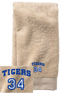 Thomas K Beecher Elementary School Tigers  Embroidered Zero Twist Resort Hand Towel