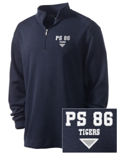 PS 86 Saint Lawrence School Tigers Embroidered Nike Men's Golf Heather Cover Up