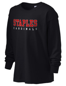 Staples Elementary School Cardinals Kid's 6.1 oz Long Sleeve Ultra Cotton T-Shirt