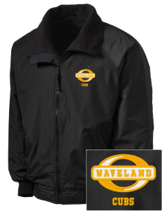 Waveland Elementary School Cubs Embroidered Men's Fleece-Lined Jacket