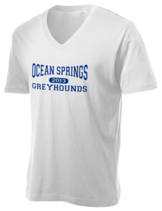 Ocean Springs High School Greyhounds Alternative Men's 3.7 oz Basic V-Neck T-Shirt