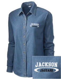 Jackson Elementary School Jaguars Embroidered Women's Denim Long Sleeve