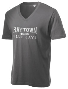 Raytown Middle School Blue Jays Alternative Men's 3.7 oz Basic V-Neck T-Shirt