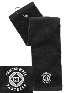 Chester Boren Middle School Panthers Embroidered Hand Towel with Grommet