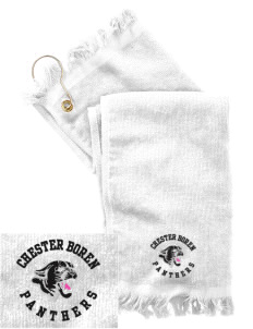 Chester Boren Middle School Panthers  Embroidered Grommeted Finger Tip Towel