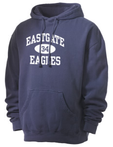 Eastgate Middle School Eagles Men's 80/20 Pigment Dyed Hooded Sweatshirt