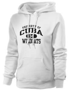 Cuba Middle School Wildcats Russell Women's Pro Cotton Fleece Hooded Sweatshirt