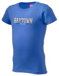 Raytown High School Blue Jays  Girl's Fine Jersey Longer Length T-Shirt