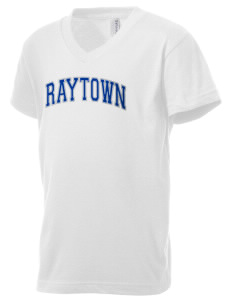 Raytown High School Blue Jays Kid's V-Neck Jersey T-Shirt