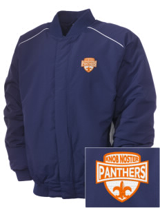 Knob Noster High School Panthers Embroidered Russell Men's Baseball Jacket