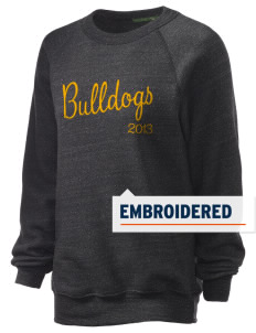 Central Elementary School Bulldogs Embroidered Unisex Alternative Eco-Fleece Raglan Sweatshirt