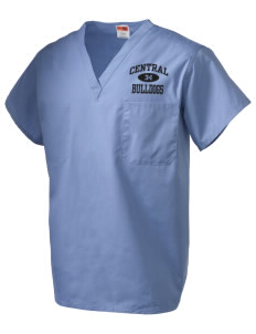 Central Elementary School Bulldogs V-Neck Scrub Top
