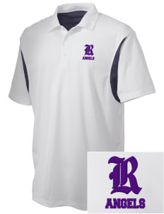 Robison Middle School Angels Embroidered Men's Back Blocked Micro Pique Polo