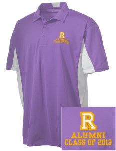 Robison Middle School Angels Embroidered Men's Side Blocked Micro Pique Polo