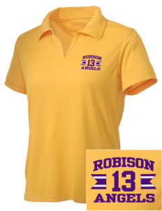 Robison Middle School Angels Embroidered Women's Double Mesh Polo