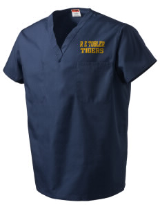 R E Tobler Elementary School Tigers V-Neck Scrub Top