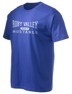 Ruby Valley Elementary School Mustangs Hanes Men's 6 oz Tagless T-shirt