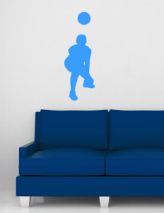 "Austin High School Broncos Wall Silhouette Decal 20"" x 32"""