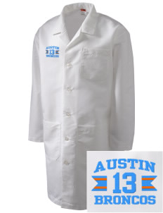 Austin High School Broncos Full-Length Lab Coat