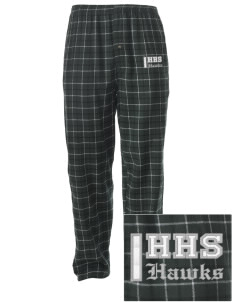 Hug High School Hawks Embroidered Men's Button-Fly Collegiate Flannel Pant