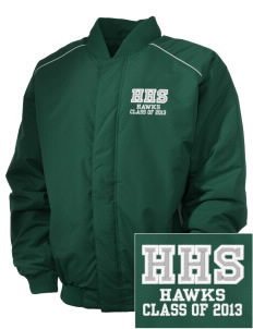 Hug High School Hawks Embroidered Russell Men's Baseball Jacket