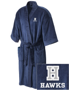 Hug High School Hawks Embroidered Terry Velour Robe